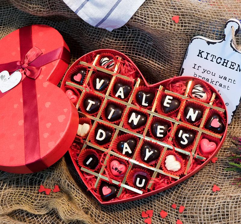 Socola ngày valentine ngọt ngào, lãng mạn