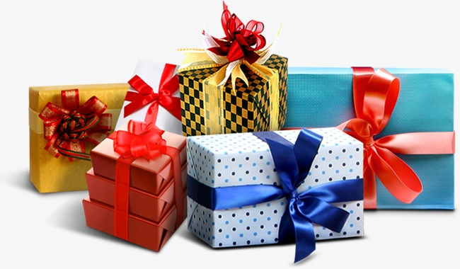 Những hộp quà sặc sỡ vui tươi