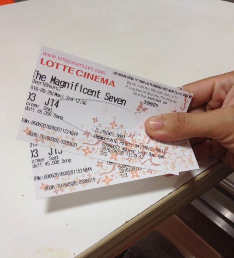 Quà tặng sinh nhật bạn thân là vé xem phim