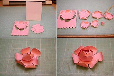 Hướng dẫn làm thiệp sinh nhật đơn giản hoa hồng