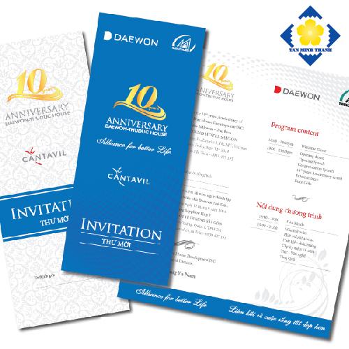 Mẫu thiệp mời sự kiện sang trọng và đẳng cấp
