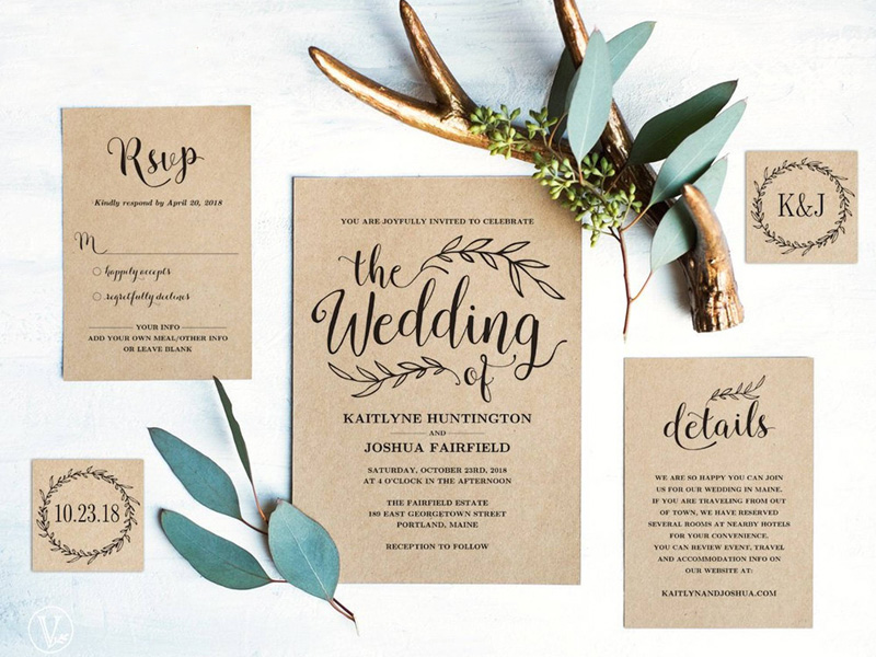 Mẫu thiệp mời cưới sang trọng và phong cách nhất 2019