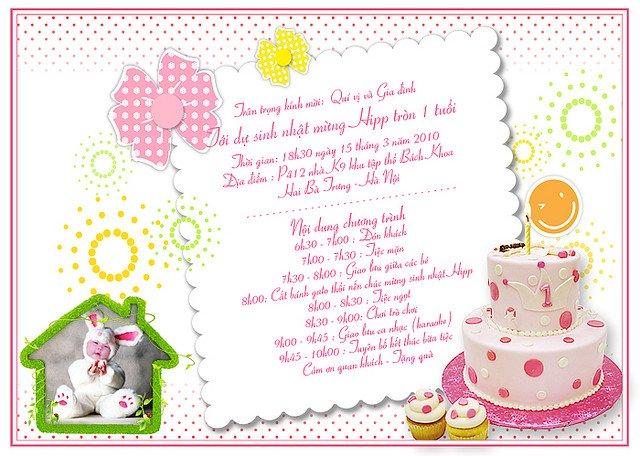 Mẫu thiệp sinh nhật độc đáo và dễ thương