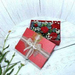 Hộp quà hoa hồng, hộp quà tặng valentine HQ17 – Kích thước 23x17x7