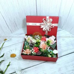 Hộp quà hoa hồng, hộp quà tặng valentine HQ18 – Kích thước 23x17x7