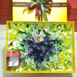 Hộp quà valentine xếp hoa trái tim đẹp HQ15 – Kích thước 23x17x7