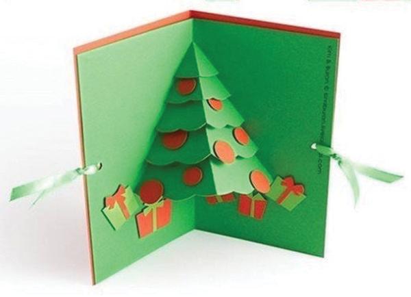 Những mẫu thiệp giáng sinh origami Đẹp, Dễ Thương năm 2020