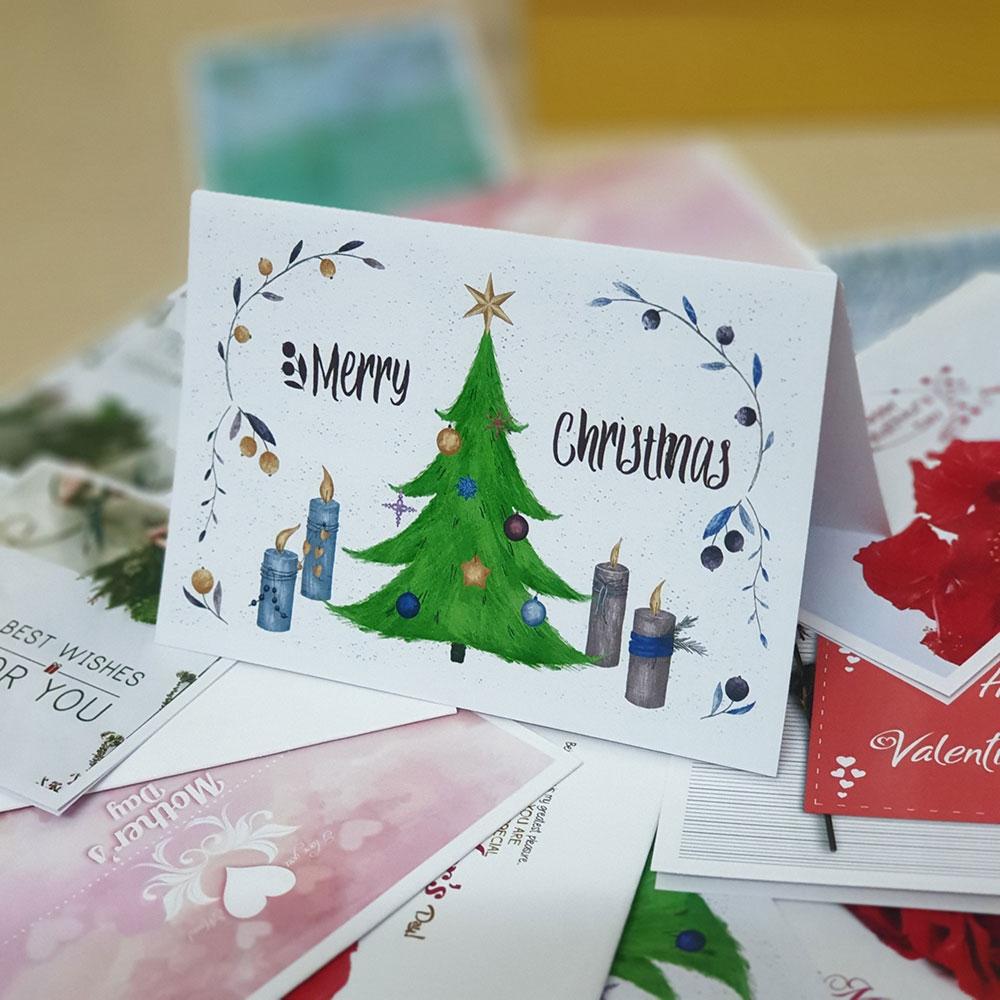 TM15 – Thiệp Mừng Merry Chrismas