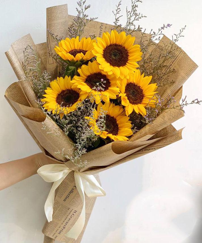 Giấy gói hoa vintage