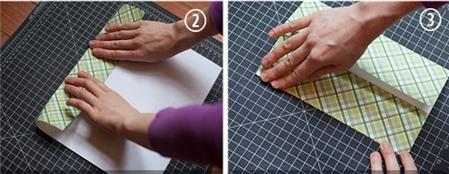 Bước 1: Gấp nếp túi giấy