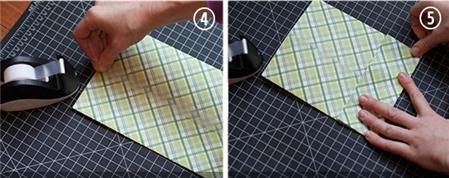 Cách gấp túi giấy - Bước 2