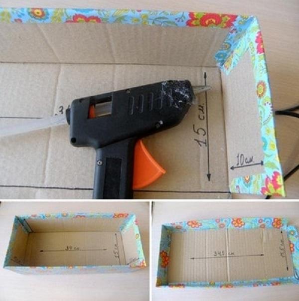 Sử dụng máy bắn keo để dán hộp quà