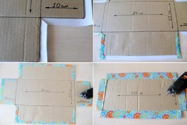 Dán giấy bọc quà trang trí bên ngoài hộp quà