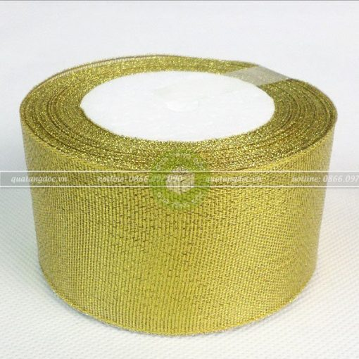 Ruy băng nhũ kim tuyến 1cm, 2cm, 3cm, 4cm, 5cm