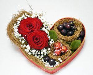 Hộp quà hoa quả kèm nhẫn